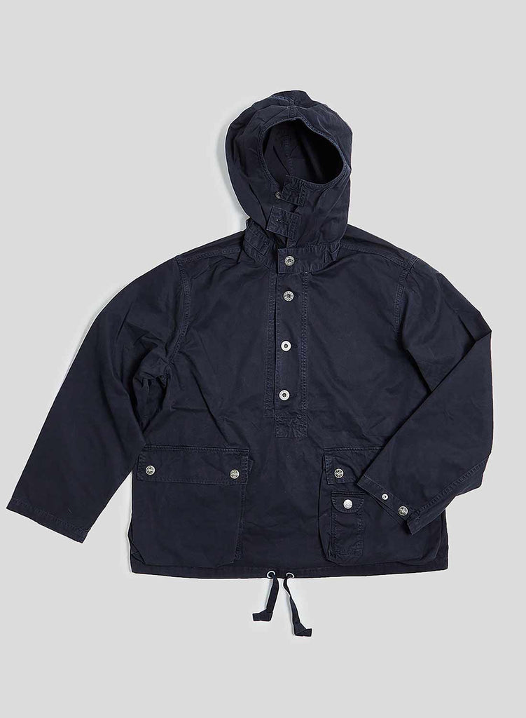 Deck Smock in Black Navy