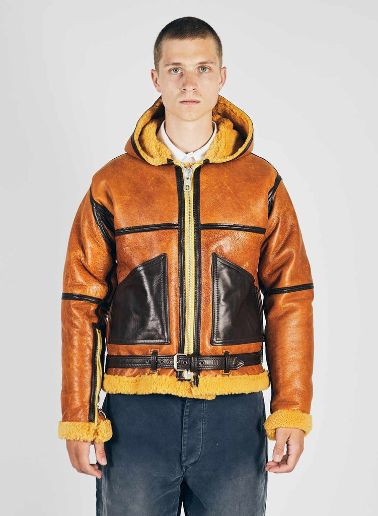 Yellow Coastal Command Sheepskin Jacket