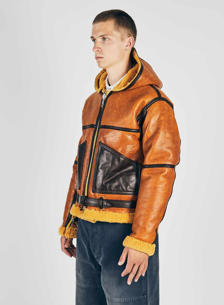 Yellow Coastal Command Sheepskin Jacket 3