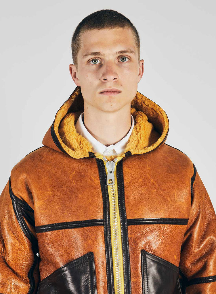 Yellow Coastal Command Sheepskin Jacket 4