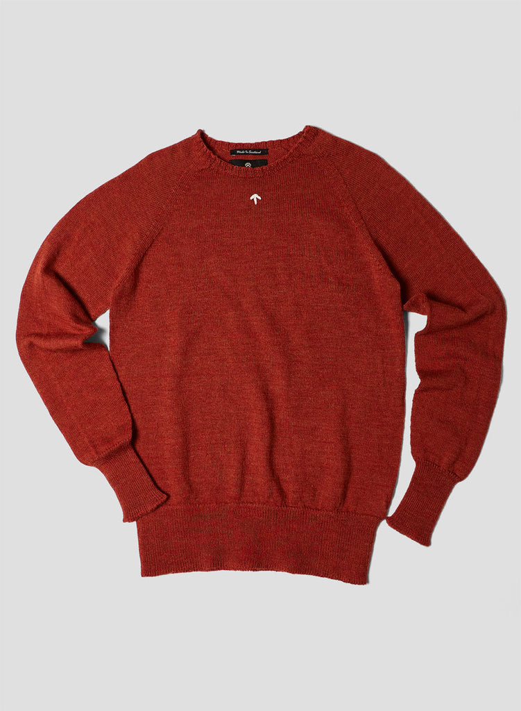 Raglan Crew Jumper in Burnt Orange