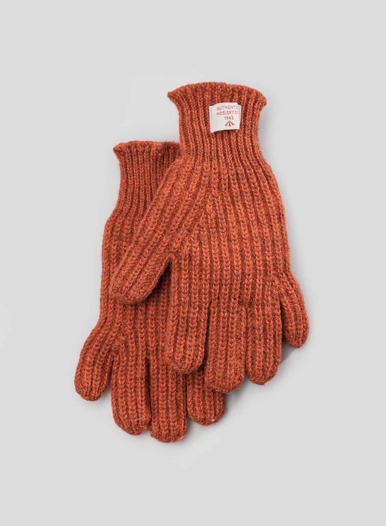 Ribbed Goalie Gloves in Vintage Orange
