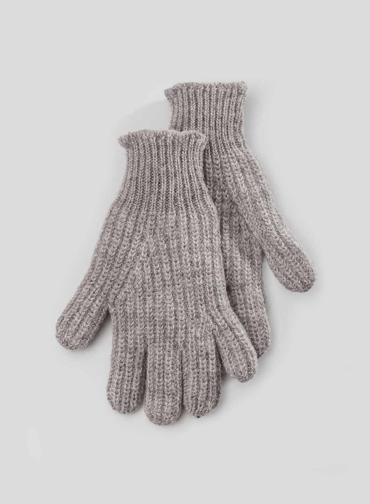 Ribbed Goalie Gloves in Grey