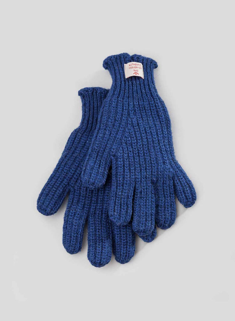 Ribbed Goalie Gloves in Royal Blue