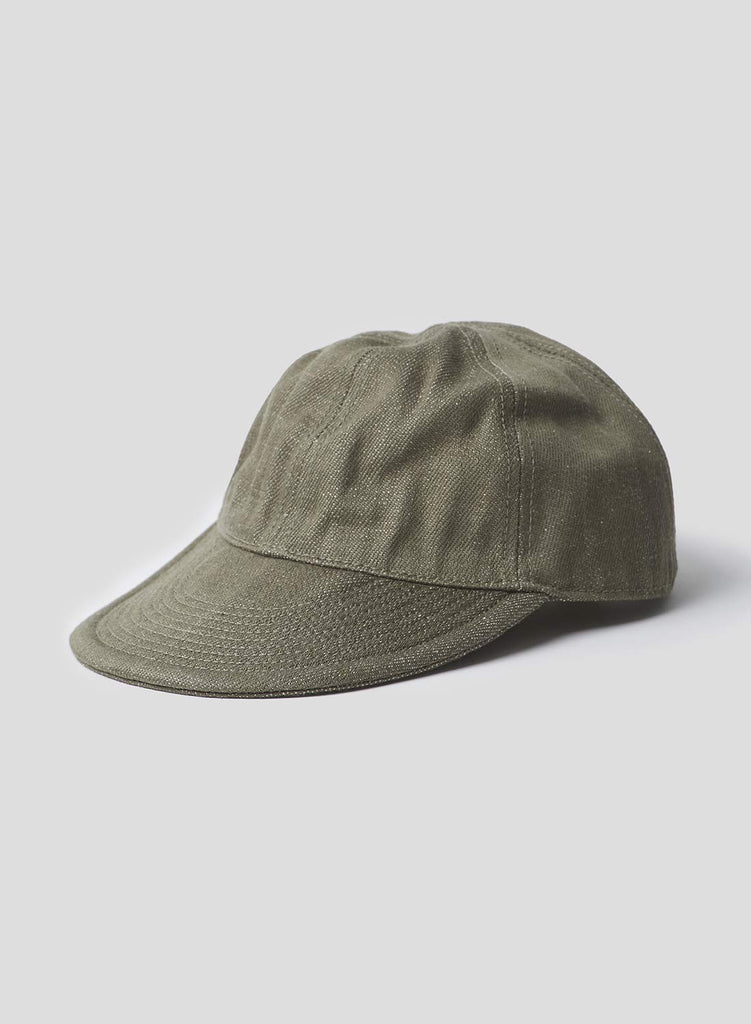 Mechanics Cap in Denim Army