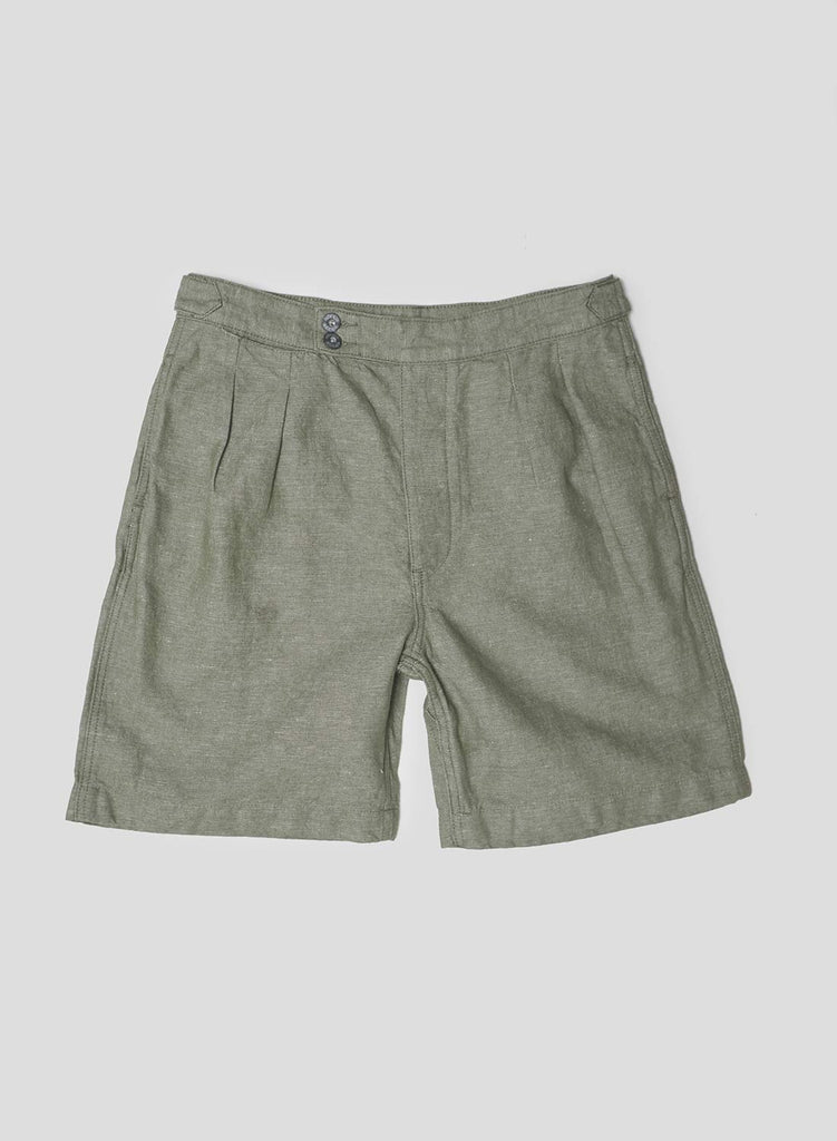 Pleated Short in US Green