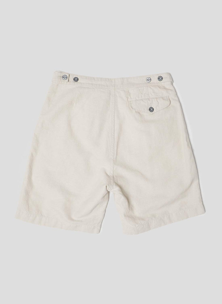 Pleated Short in Dirty Natural