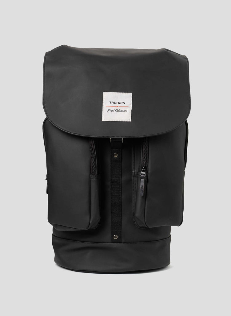 Nigel Cabourn x Tretorn Backpack in Black and Vintage Orange
