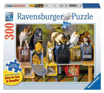 Cat Mail Puzzle Large Format (300pc)
