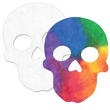 Color Diffusing Sugar Skulls