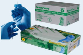 (FDA 510k) SunnyCare Blue Powder-free Nitrile Medical Exam Gloves