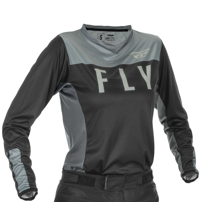 FLY WMN LITE JRSY BLK/GRY MD