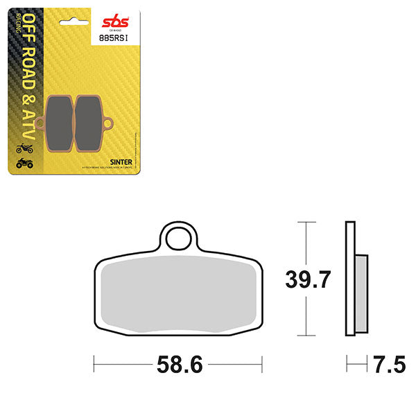 SBS BRAKE PAD SBS885RSI