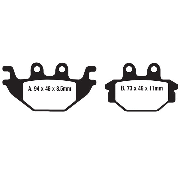 BRAKE PAD SET (FA377) PAIR