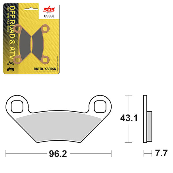 SBS BRAKE PAD SBS899SI POLARIS