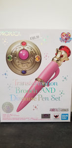 Sailor Moon Transformation Brooch and Disguise Pen Set Proplica