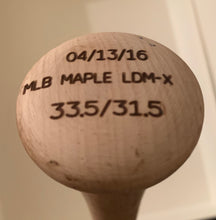 Load image into Gallery viewer, Evan Longoria Game Used Autographed Bat