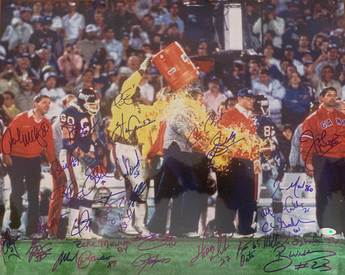 1986 NY Giants Team Signed 16