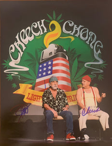 "Cheech and Chong Autographed 11"" x 14"" Photo"