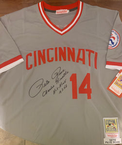 Pete Rose Autographed Custom on Field Style Jersey