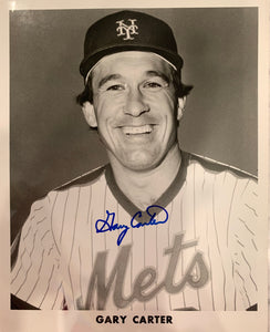 "Gary Carter Autographed 8"" x 10"" Photo"
