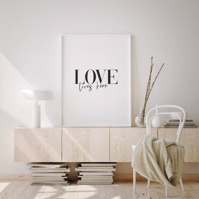 Love Lives Here Printable - ᐅ Roses On The Moon - Digital Art and Posters