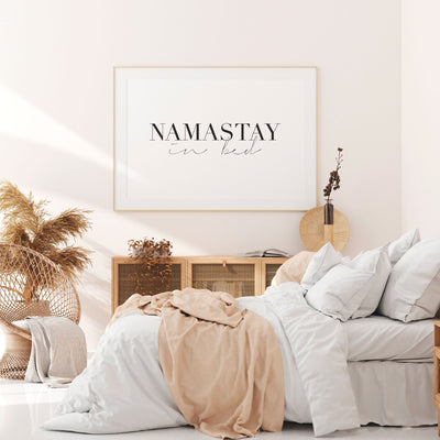 Namastay in Bed Printable - ᐅ Roses On The Moon - Digital Art and Posters