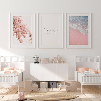 Pink Set of 3 Printable - ᐅ Roses On The Moon - Digital Art and Posters