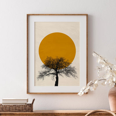 Sun and Tree - ᐅ Roses On The Moon - Digital Art and Posters