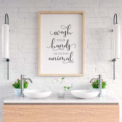 Wash Your Hands Ya Filthy Animal Printable - ᐅ Roses On The Moon - Digital Art and Posters