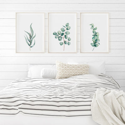 Watercolor Eucalyptus Set - ᐅ Roses On The Moon - Digital Art and Posters