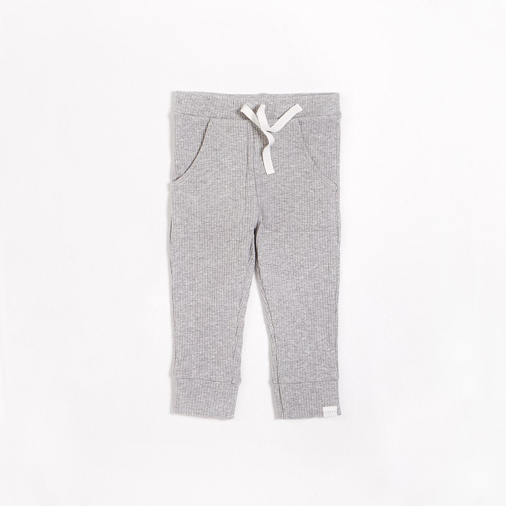 Petit Lem FIRSTS Heather Grey Jogger with Organic Cotton (3M-24M)