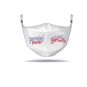MASK - Alison Sheri - Spread Love Not Germs - White