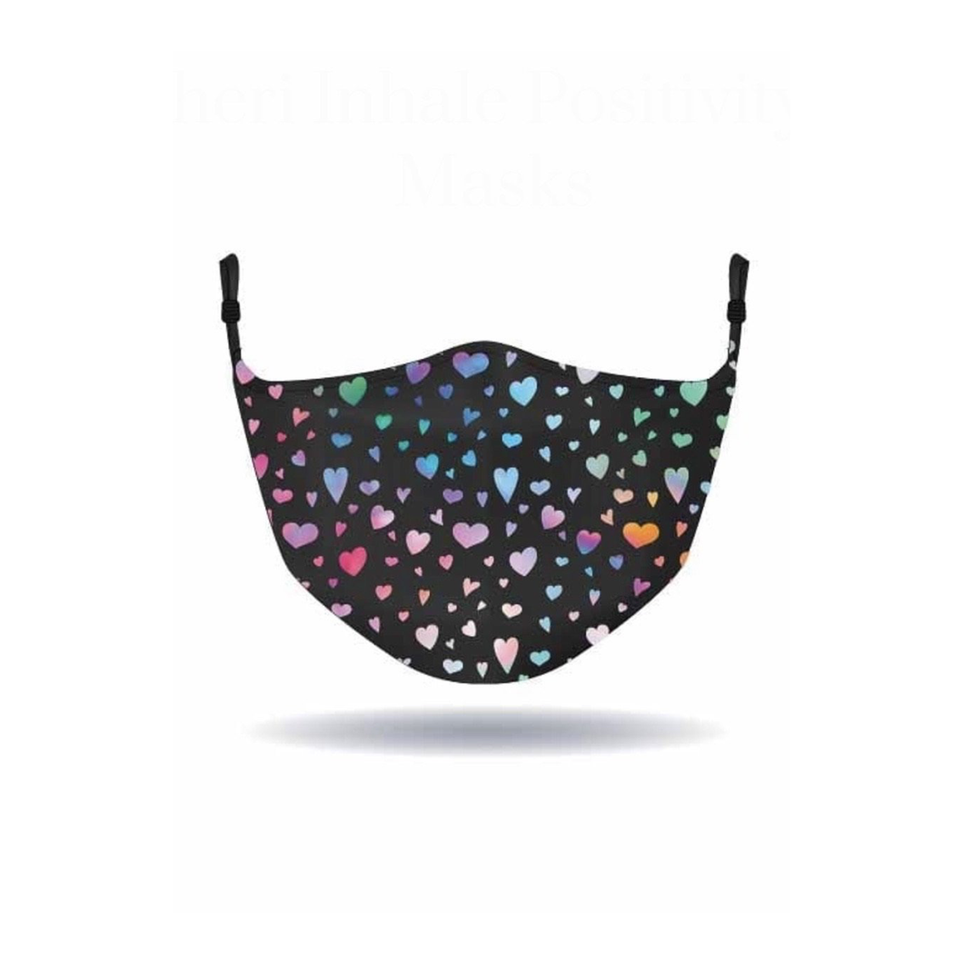 MASK - Alison Sheri - Colorful Heart - Black
