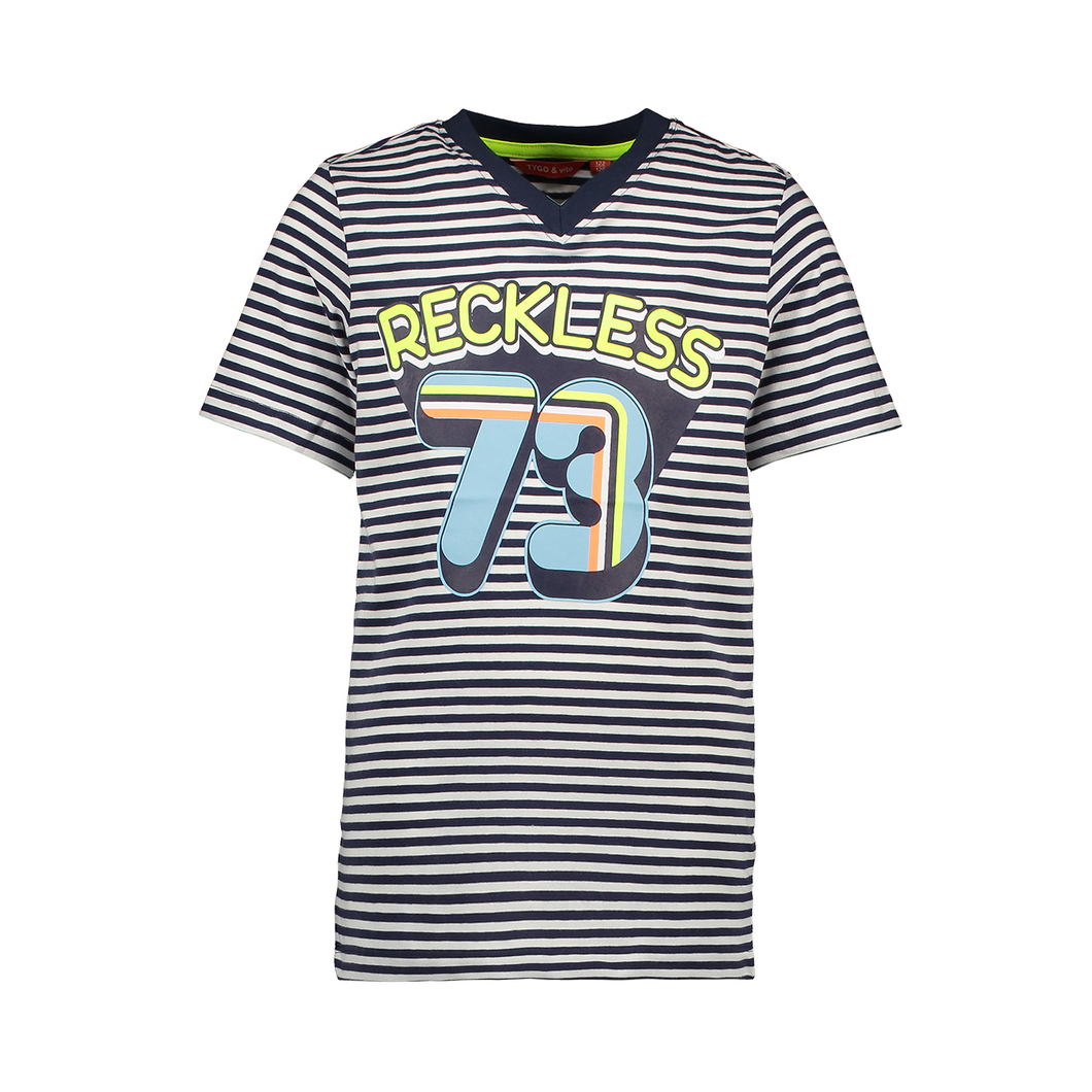 TYGO & VITO - T- Shirt Stripe Reckless