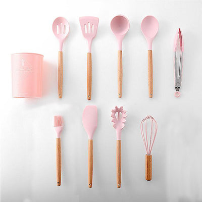 11pcs  Silicone Cooking Utensils Set