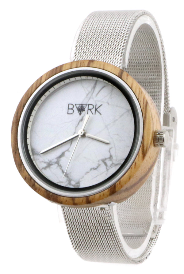 Zebrawood White Steel Marble