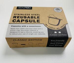 Sealpod reusable nespresso capsules