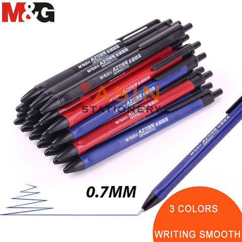 M&G 40pcs Classic TR3 Writing Ball Point Pen 0.7mm Balck/blue Economic Ball Pen for School and Office Gift Supply  Ballpoint