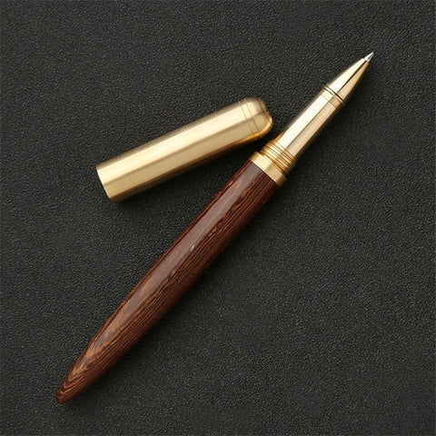 High Quality 0.7mm Black Luxury Wood Ballpoint Pen Business Gifts Ball Pen Writing Office School Supplies Stationery 03665