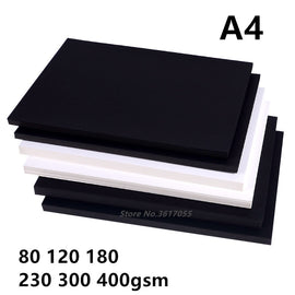 New 80-400gsm High Quality A4 Black White Kraft Paper DIY Handmake Card Making Craft Paper Thick Paperboard Cardboard