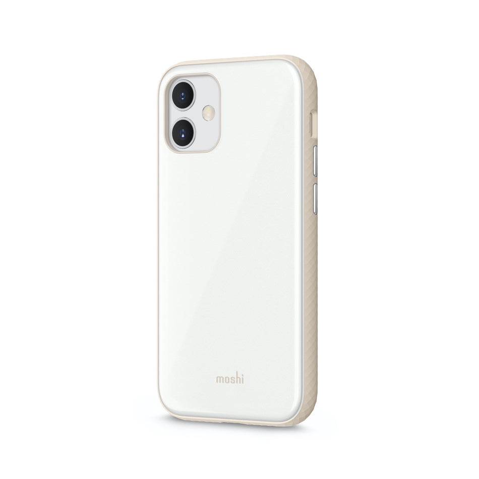 Moshi iGlaze Slim Hardshell Case For iPhone 12 mini - Pearl White