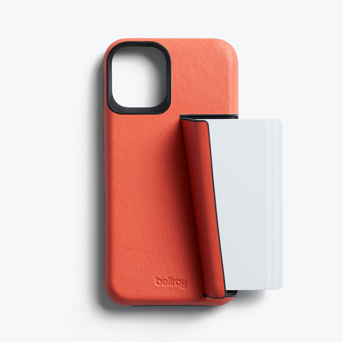 Bellroy 3-Card Genuine Leather Wallet Case For iPhone iPhone 12 mini - CORAL