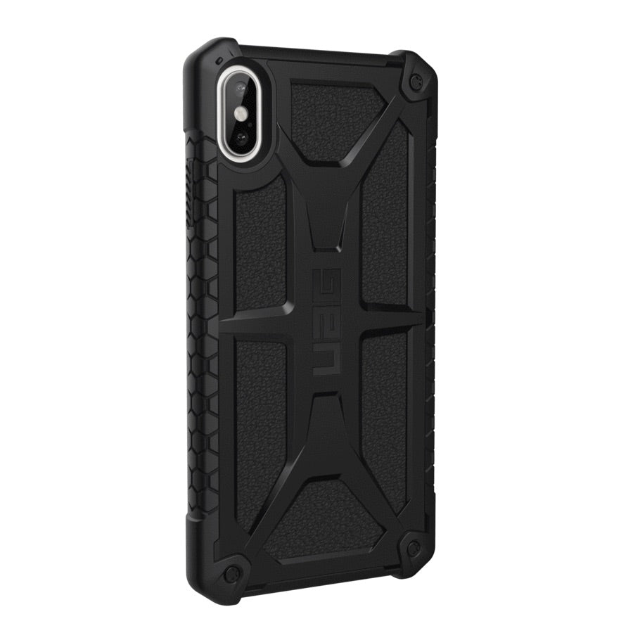 UAG Monarch Premium Ultra Rugged Protective Case For iPhone XS Max- Black Leather - Macintosh Addict