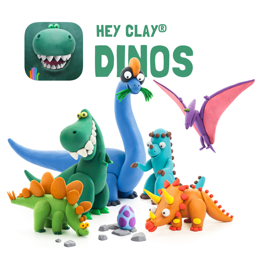Hey Clay Air-Dry Modelling Clay - Dinos
