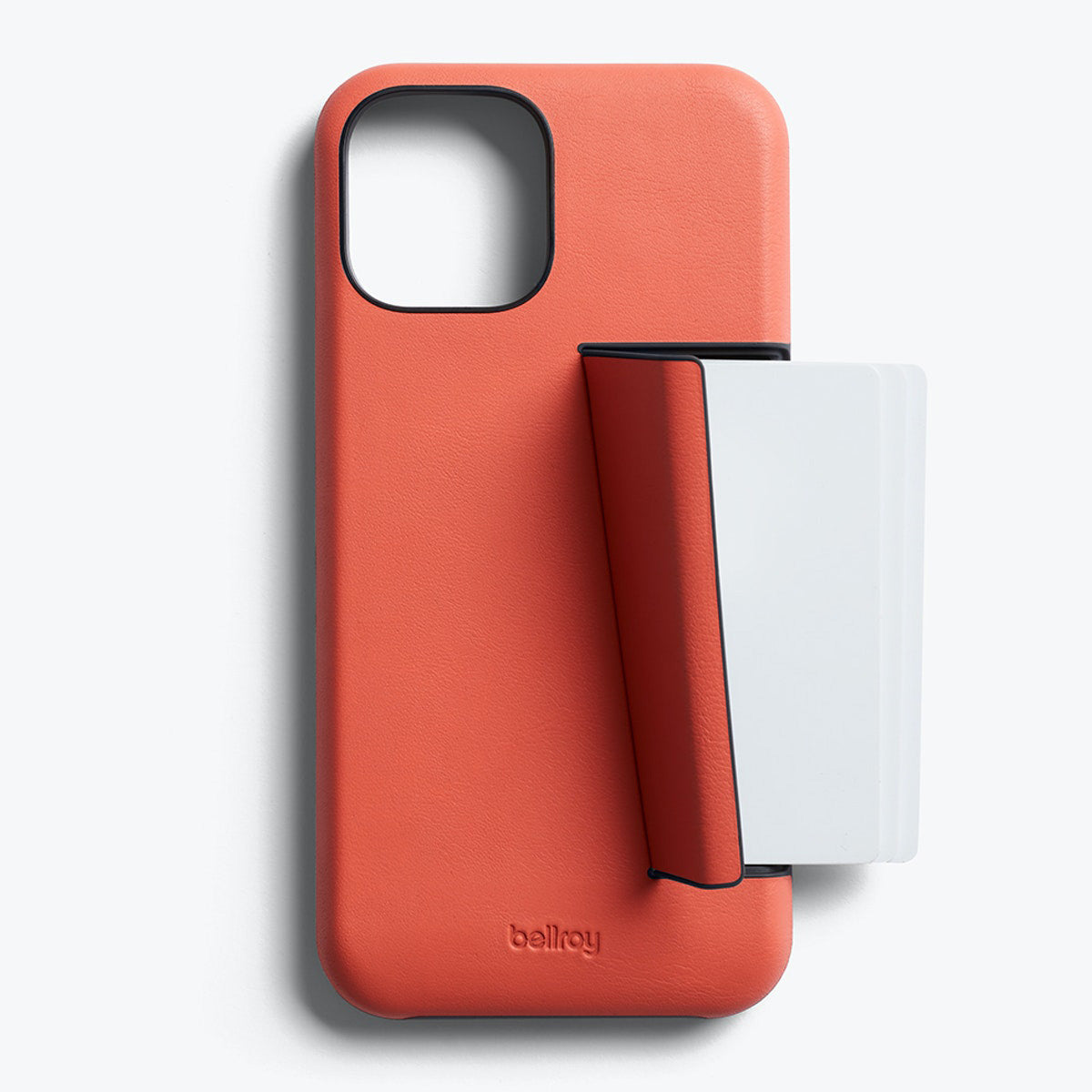 Bellroy 3-Card Genuine Leather Wallet Case For iPhone iPhone 12 Pro Max - CORAL