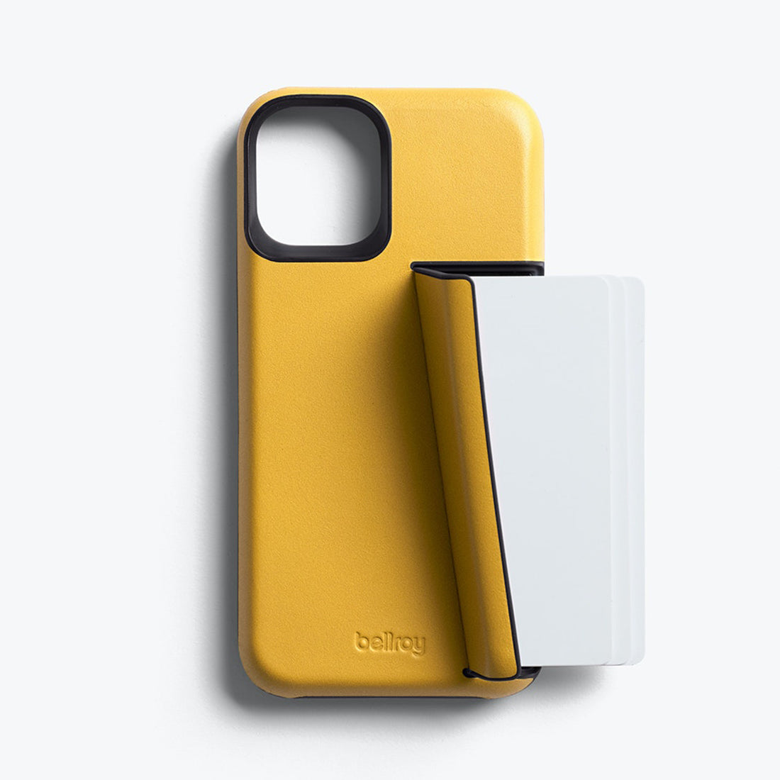 Bellroy 3-Card Genuine Leather Wallet Case For iPhone iPhone 12 mini - LEMON
