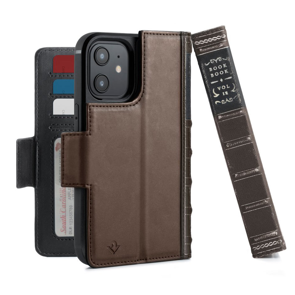 Twelve South BookBook Vol. 2 Leather Wallet Case For iPhone 12 / 12 Pro - Brown