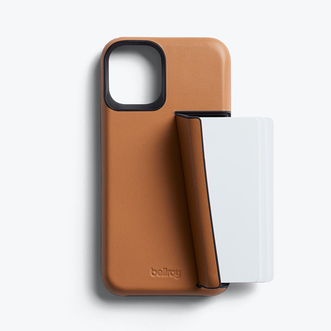 Bellroy 3-Card Genuine Leather Wallet Case For iPhone iPhone 12 mini - TOFFEE