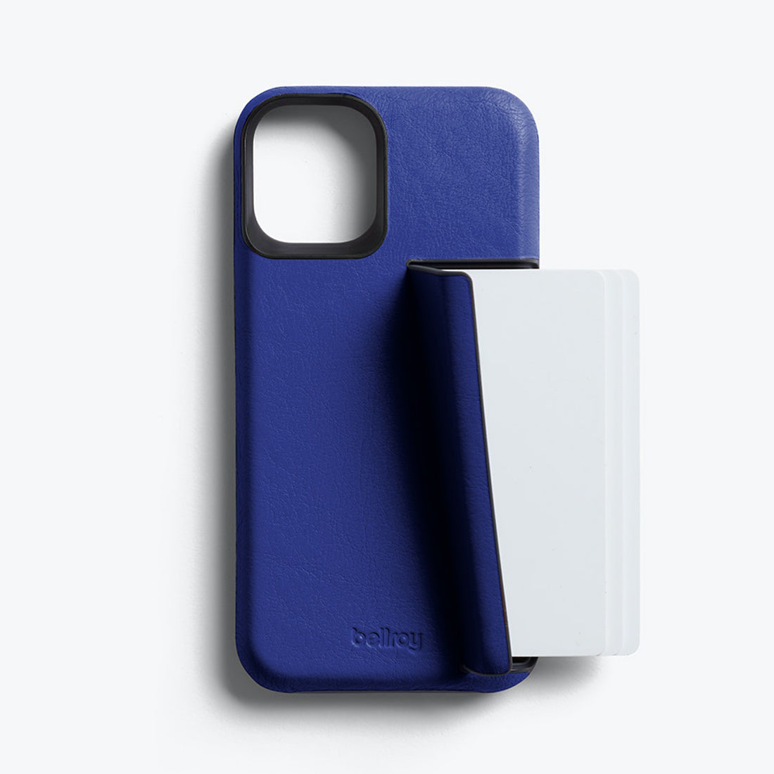 Bellroy 3-Card Genuine Leather Wallet Case For iPhone iPhone 12 mini - COBALT